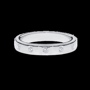 5 round brilliant-cut diamonds band