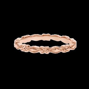 geometric shapes plain rose gold band