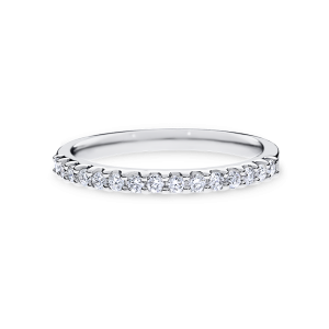 18ct white gold engagement band