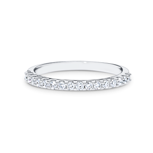 sophisticated  Round brilliant-cut diamond bands
