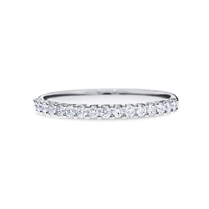 diamond wedding band - round cut