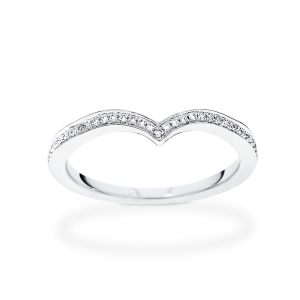 heart shaped engagement wedding band
