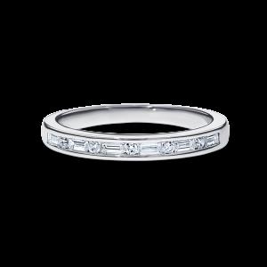 6 baguette diamonds wedding band