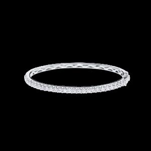 18ct white gold bangle