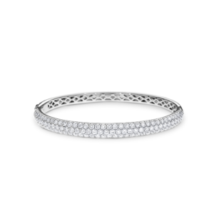 18ct white gold pavé-set diamond bangle