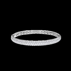 18ct white gold pavé-set diamond bangle