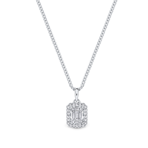 Allure 9ct white gold pendant
