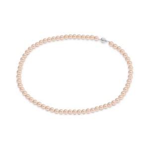 Pink Akoya pearl necklace