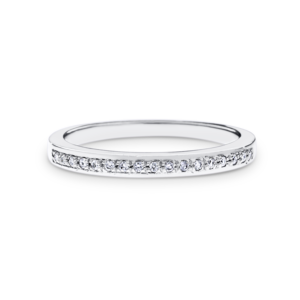 grain-set diamond wedding band
