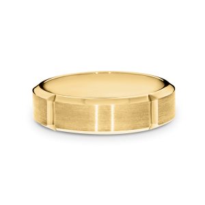 Brushed yellow gold band