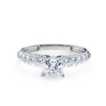 R2199 Nadia V2 Engagement Rings Solitaire with Shoulder Stones