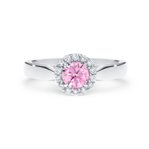 round brilliant-cut Pink Argyle diamond
