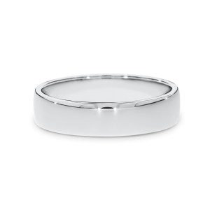 White gold curved profile wedding band