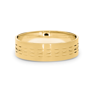9ct ellow gold wedding band