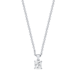 18ct princess-cut diamond pendant