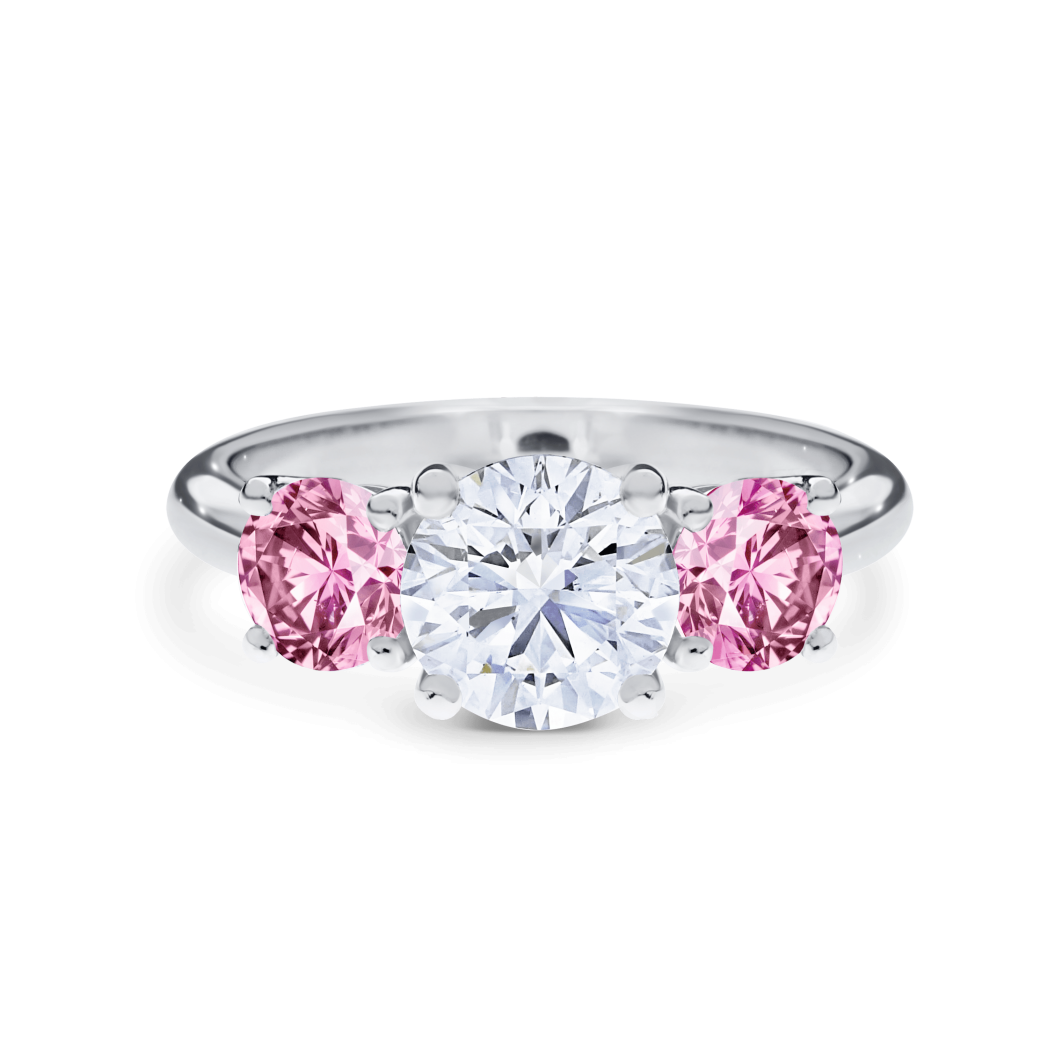 cartier rings unique square unusual pink and engagement diamond style ring