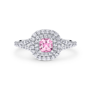 Cushion-Cut Pink Argyle Diamond Sofia