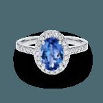 Corinne Blue sapphire centre stone