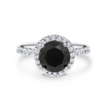 Lily Black Dia Ring 1