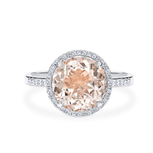 Stella - morganite centre stone ring