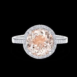 Stella - morganite centre stone ring