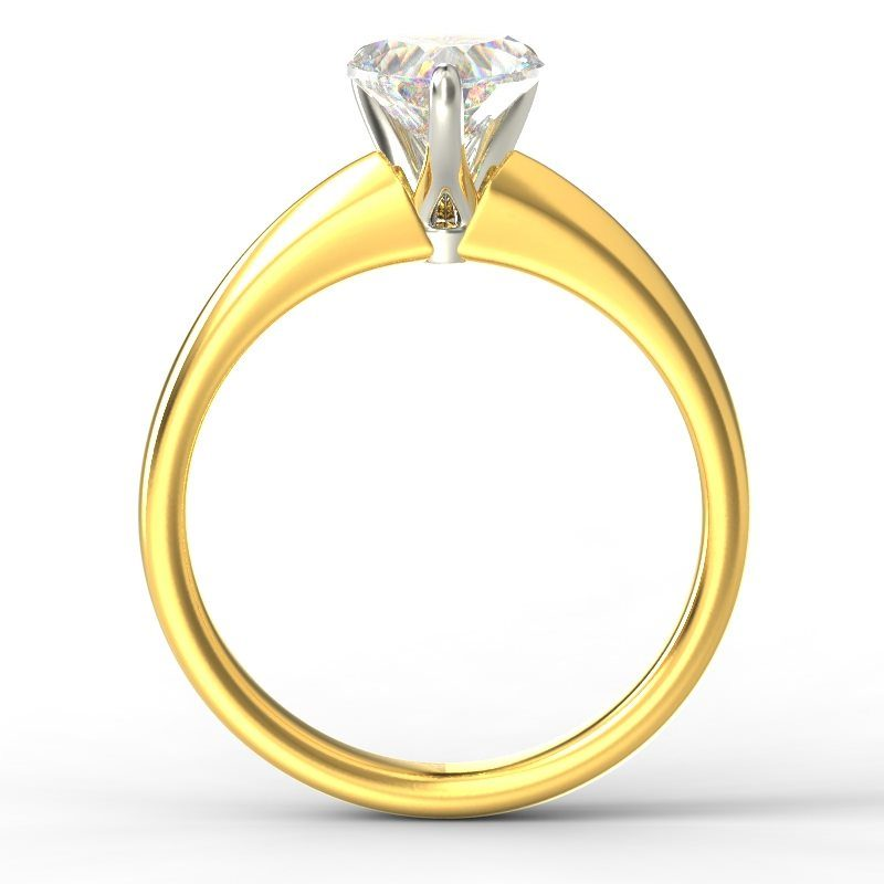 ADELE HEART YELLOW GOLD TOP