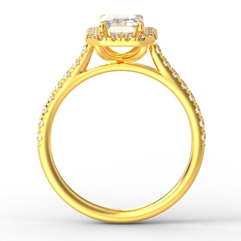 AMELIA EMERALD YELLOW GOLD TOP