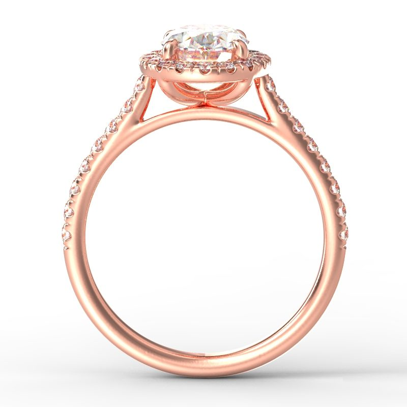 AMELIA OVAL ROSE GOLD TOP