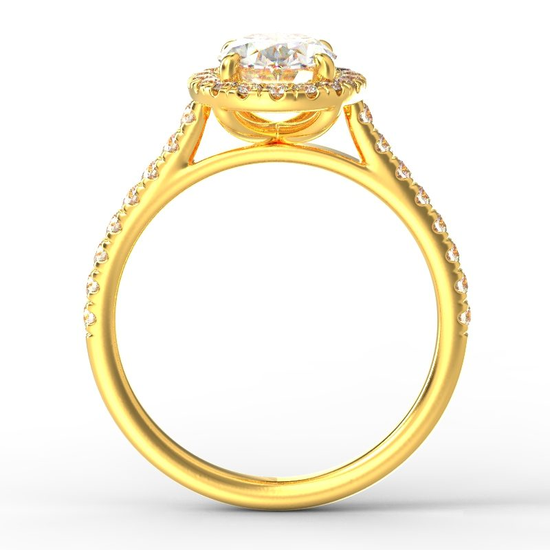 AMELIA OVAL YELLOW GOLD TOP