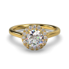 AMELIA ROUND BRILLIANT PLAIN YELLOW GOLD FRONT