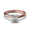 HARPER EMERALD ROSE GOLD 4PRONG SOLITAIRE FRONT