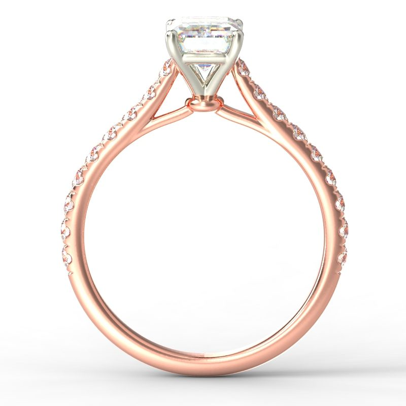 HARPER EMERALD ROSE GOLD 4PRONG TOP