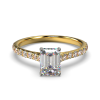 HARPER EMERALD YELLOW GOLD 4PRONG FRONT