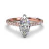 HARPER MARQUISE ROSE GOLD 2PRONG SOLITAIRE FRONT
