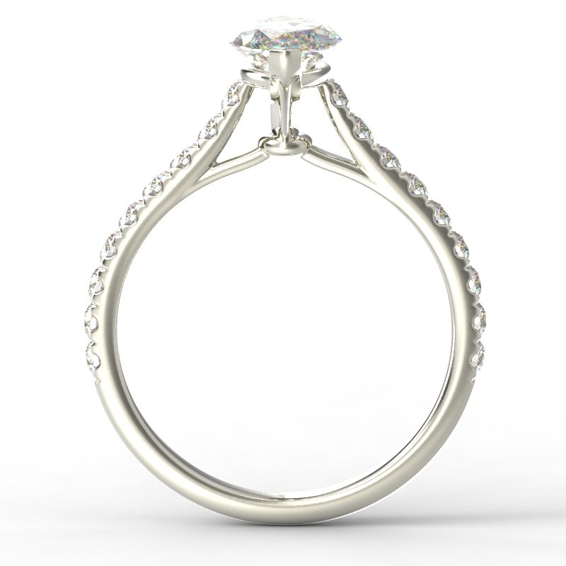 HARPER MARQUISE WHITE GOLD 2PRONG SOLITAIRE TOP