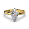 HARPER MARQUISE YELLOW GOLD 2PRONG FRONT