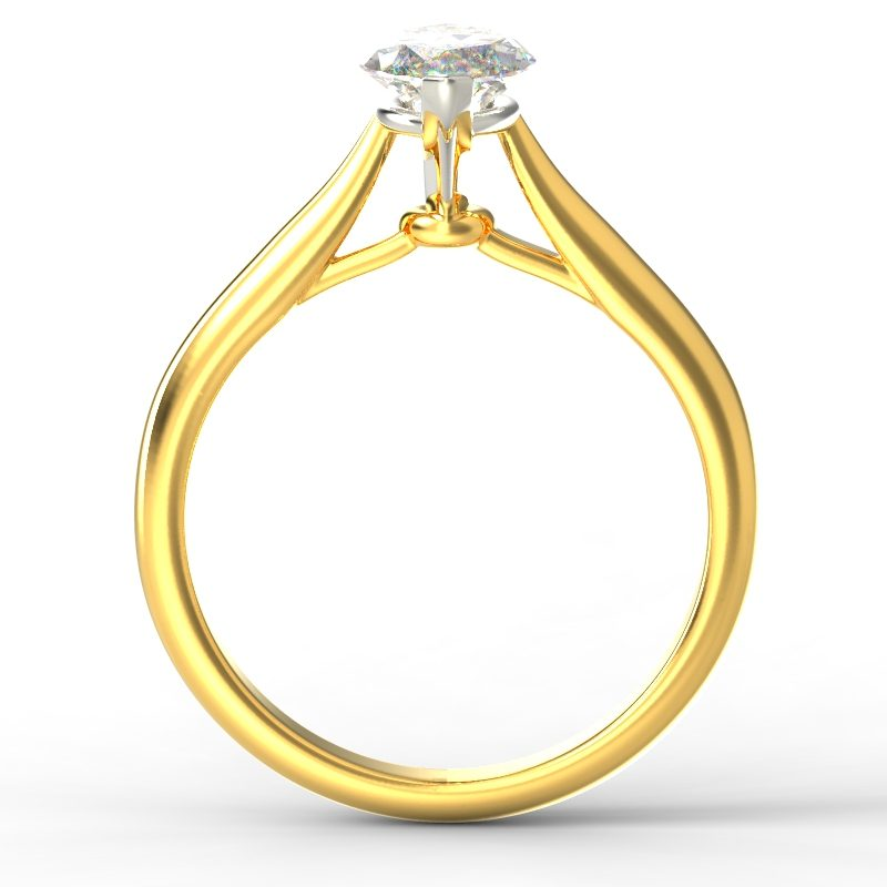 HARPER MARQUISE YELLOW GOLD 2PRONG TOP