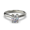 HARPER OVAL WHITE GOLD 4PRONG SOLITAIRE FRONT
