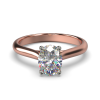 HARPER OVAL rose GOLD 4PRONG SOLITAIRE FRONT