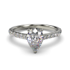 HARPER PEARSHAPE WHITE GOLD 3PRONG FRONT
