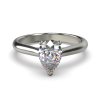 HARPER PEARSHAPE WHITE GOLD 3PRONG SOLITAIRE FRONT