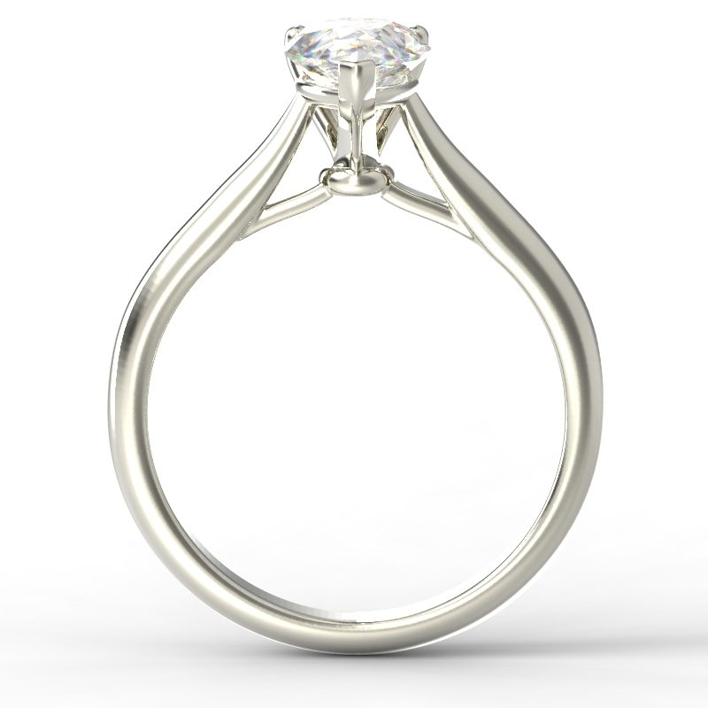 HARPER PEARSHAPE WHITE GOLD 3PRONG SOLITAIRE TOP