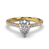 HARPER PEARSHAPE YELLOW GOLD 3PRONG FRONT
