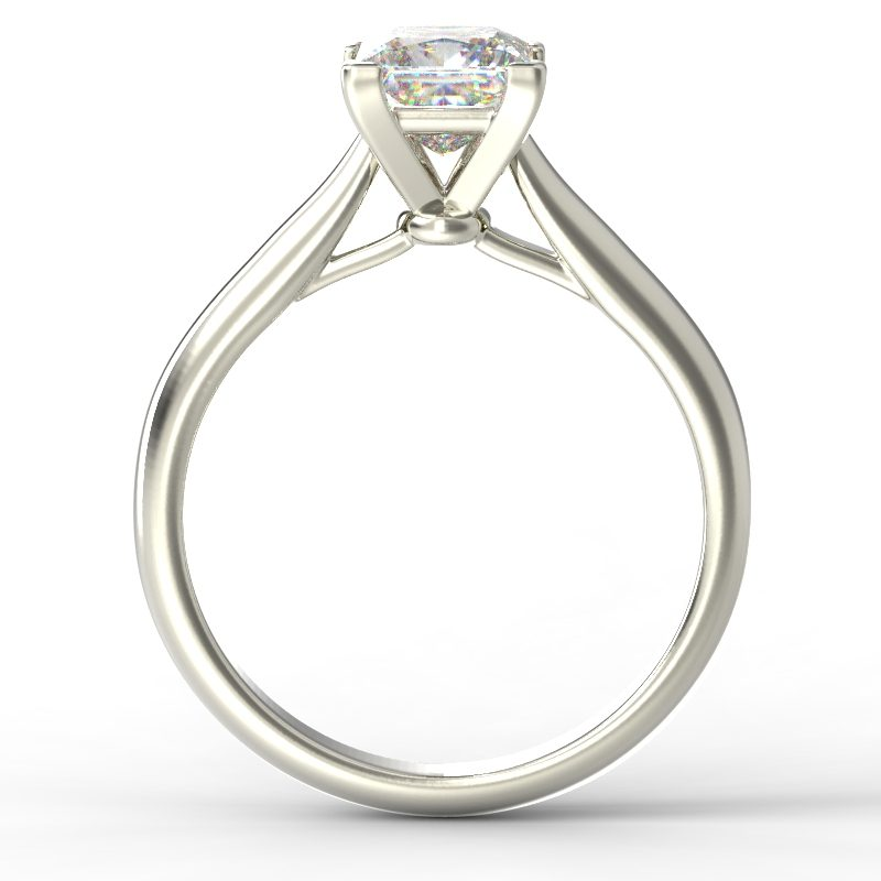 HARPER PRINCESS WHITE GOLD 4PRONG SOLITAIRE TOP
