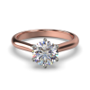 HARPER ROUNDBRILLIANT ROSE GOLD 6PRONG SOLITAIRE FRONT