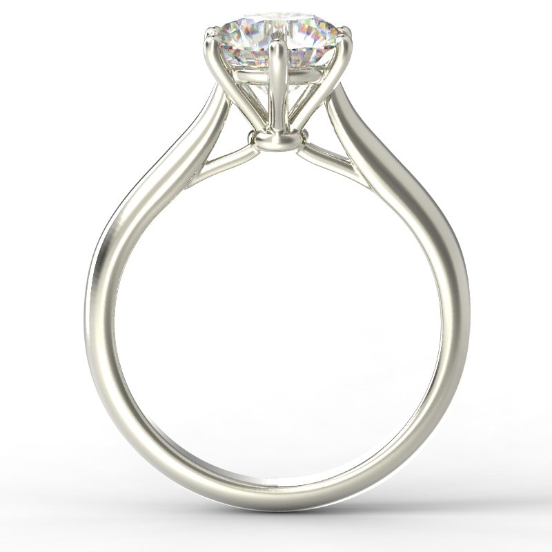 HARPER ROUNDBRILLIANT WHITE GOLD 6PRONG SOLITAIRE TOP 1
