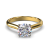 HARPER ROUNDBRILLIANT YELLOW GOLD 4PRONG SOLITAIRE FRONT