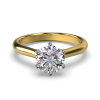HARPER ROUNDBRILLIANT YELLOW GOLD 6PRONG SOLITAIRE FRONT
