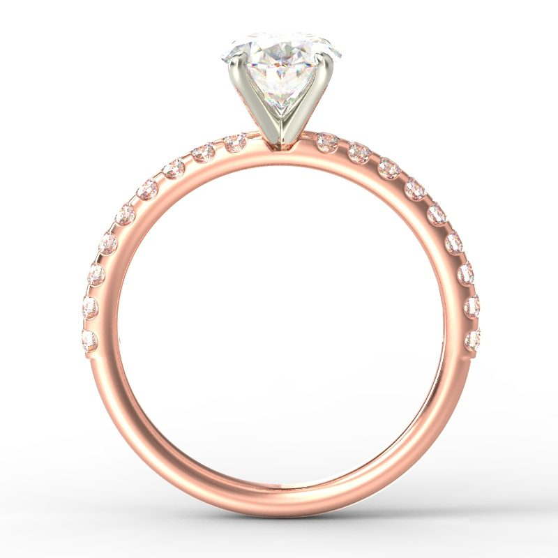 LEONA OVAL ROSE GOLD TOP