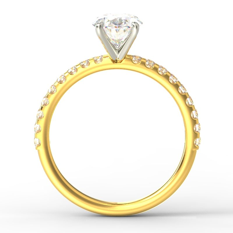 LEONA OVAL YELLOW GOLD TOP